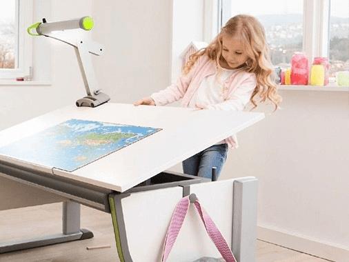 Изменить угол наклона на письменном столе moll
